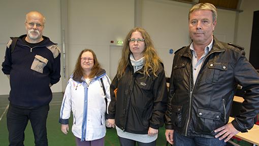 Benny Appelqvist, Lena Edinge, Ann-Louise Gustavsson och Thomas Jonsson är alla skyddsombud på Samhall och uppskattar möjligheten att få träffa varandra och andra skyddsombud.