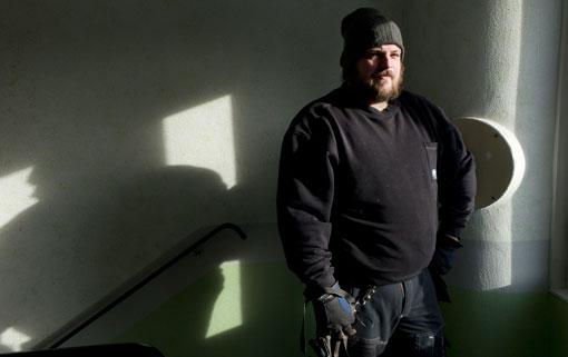 Tommy Åsander, sanerare, är nöjd med individgarantin men missnöjd med de nya reglerna för traktamenten. Foto: Thomas Fahlander