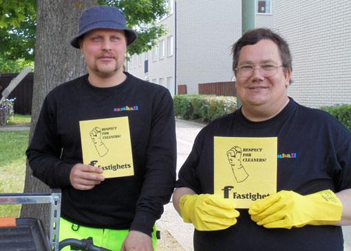 Region Tvärs har bland annat varit ute och hälsat på Samhalls trappstädare i Linköping.