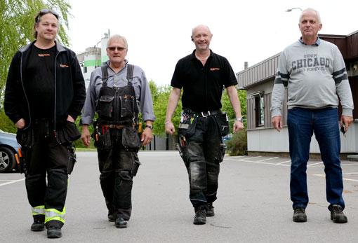 Andreas Isaksson, Kenneth Petersson, Peter Widén och Thomas Andersson på Hyresbostäder i Norrköping är för en sammanslagning.