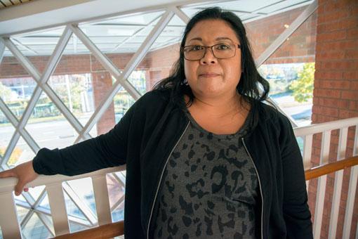 Ing-Marie Dahlqvist, Sodexo, städar på Gevalias kafferosteri i Gävle. Hon är beredd och sugen på att strejka för att få upp lönerna.