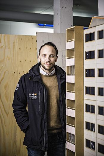 Kasper Nilsson, renoveringschef och projektledare.