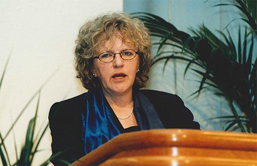 Barbro Wagenius på Fastighets kongress år 2000. Foto: Bo Elfving