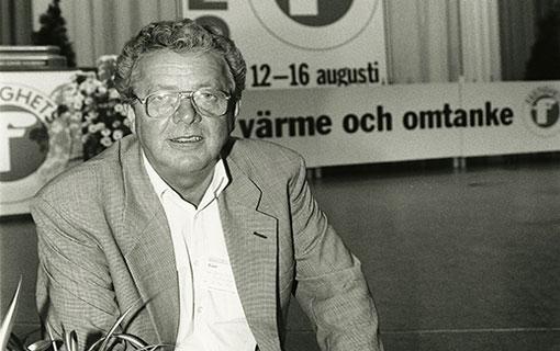 Bert-Ove Pettersson som gäst på Fastighets kongress 1995. Foto: Bo Elfving