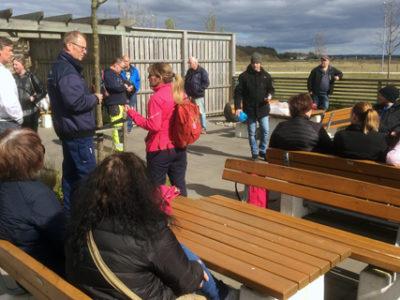 Trots att informationsmötet inför strejken fick hållas utomhus deltog ett trettiotal ISS-anställda vid Ringhals igår.